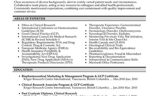 click here to download this clinical research associate resume template
