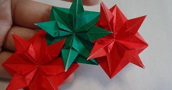 折り紙でクリスマスリースを作る方法 クリスマス おりがみ