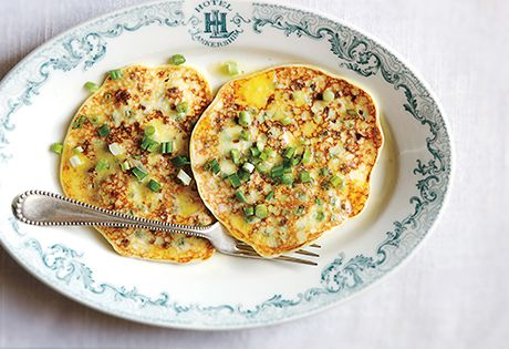 Green Pea Pancakes With Smoked Salmon And Goat Cheese Recipe ...
