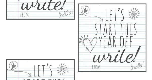 Premise Indicator Words: Let's Start This Year Off Write Printable From