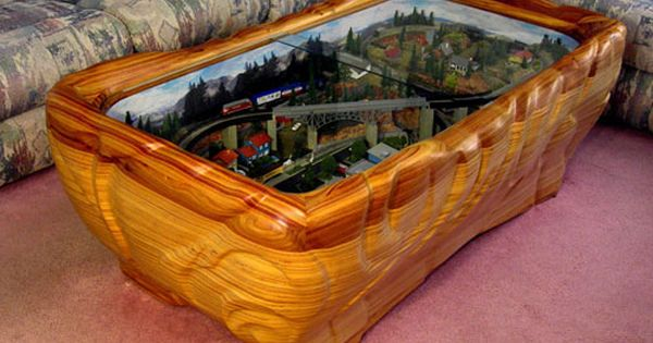 For bryan i can see this in his home model train layout enclosed in coffee table for my Train table coffee table