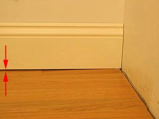 Gap Under Baseboard Near End Baseboards How To Install