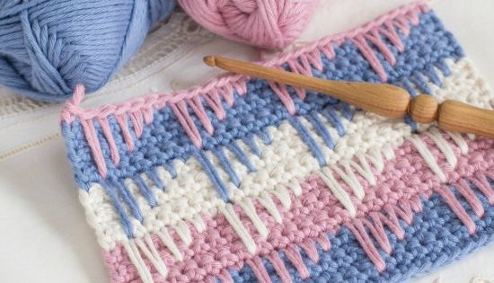 Crochet Stitches Multiples : Learn how to crochet the simple yet beautiful Spike Stitch with this ...