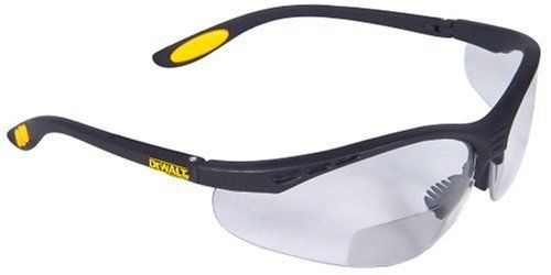 Dewalt Dpg59 125c Reinforcer Rx Bifocal 2 5 Clear Lens High Performance Protective Safety Glasses With Rubber Temp Eyeglass Sleeve Bifocal Eyeglasses
