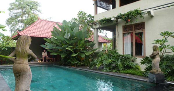 Pool Villa House For Rent In Ubud Bali For Your Holiday Villa Sirig For 1 Week 350 Euro 50 Euro A Night For 1 Month 45 Euro A Night Villa With Swimmin Rumah
