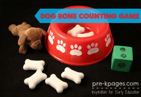 Dog Bone Counting Game Numbers Preschool Preschool Activities
