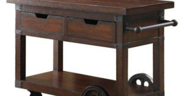Love this unique cart for kitchen: Skylar Serving Cart