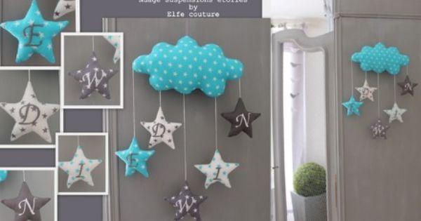coussin nuage edwin mod le d pos inpi suspensions toiles brod es initiales pr nom. Black Bedroom Furniture Sets. Home Design Ideas