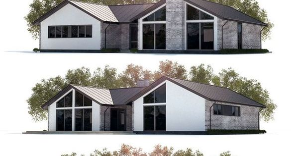 House Plan With Three Bedrooms Open Planning Vaulted