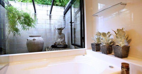 Japanese inspired bathroom open air bathroom inside - Open air bathroom designs ...