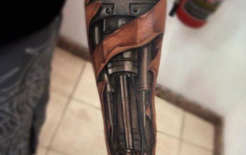 Cyborg tattoo ...