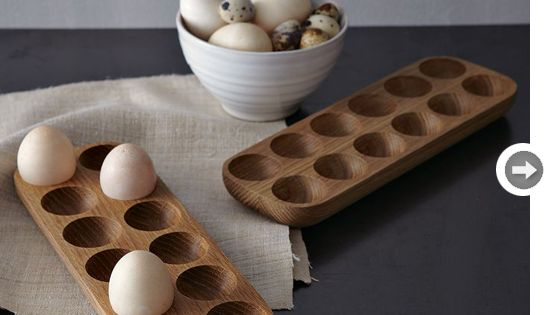 Lovely Wooden Egg Cartons