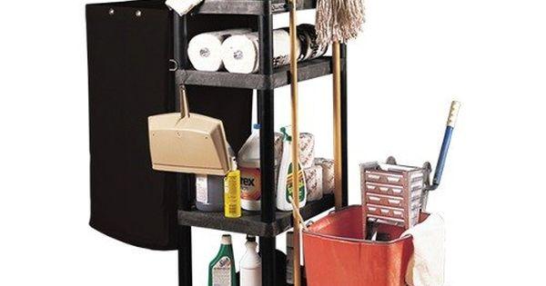 Luxor Jcb40 Three Shelf Janitor Cart Heavy Duty Dream House Tiny Pinterest Shelves And