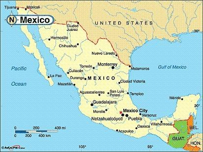 Mexico Mexico Capital City Location Of The Town On The Map Of Mexico Muziek