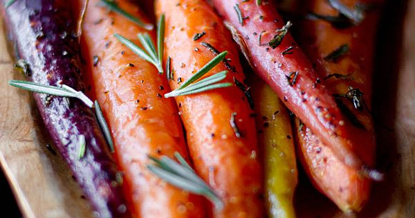 Carrots roasted with rosemary