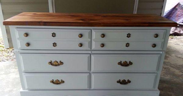 Pine Dresser Redo In Light Gray Milk Paint Tung Oil