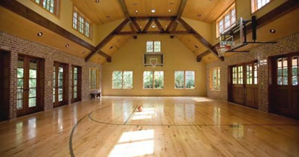 Indoor Basketball Court Ummmm Yes Lines For A Volleyball Court Would Be Required As Well P Home Basketball Court Basketball Room Basketball Court