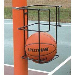 Basketball Butler 2 Ball Storage Rack Pole Mount Basketball Holder Home Basketball Court Backyard Basketball Basketball Court Backyard