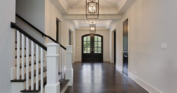 Love the double front door and large open hallway for Double opening front doors