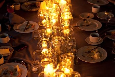 Mason Jar Candle Centerpiece