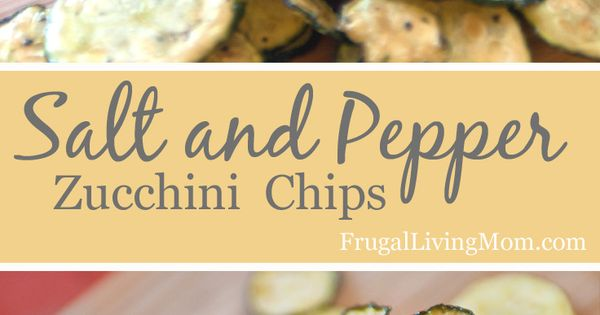 Salt and Pepper Zucchini Chips! Super yummy and healthy. You can make