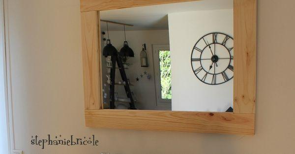 Diy bois nature un encadrement de miroir sans d fonceuse for Miroir sans fond