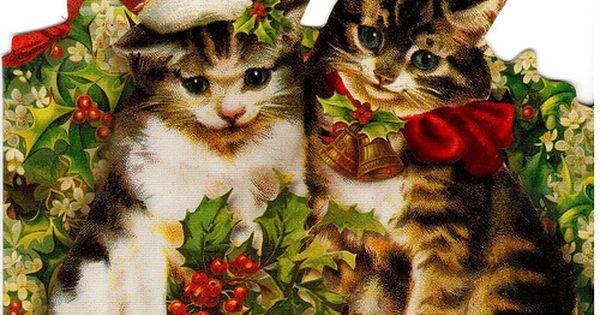 Postcrossing Us 2009127 Christmas Cats Cat Christmas Cards Christmas Animals