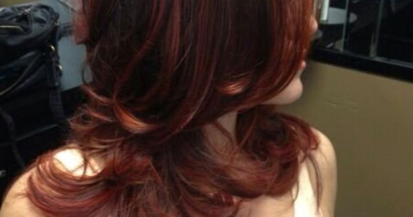 Multi Hair Color Styles: Multi-tonal Red Copper Brown Ombre- I Want