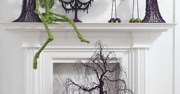 There are SO many halloween decoration ideas here! But I loved the