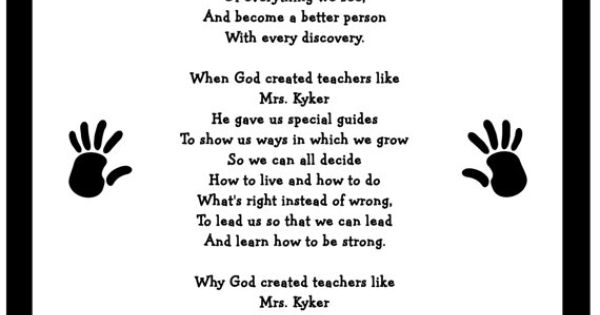 Teacher poem