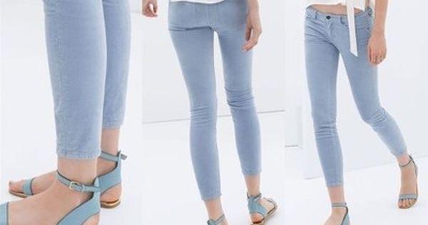 A0008 Zara Woman Kli Welurowe Spodnie Rurki M 38 6558338655 Oficjalne Archiwum Allegro Pants Skinny Jeans Fashion