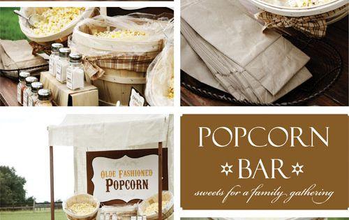 popcorn bar late night snack wedding