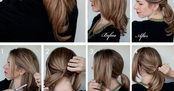 Twisty ponytail - easy summer hair