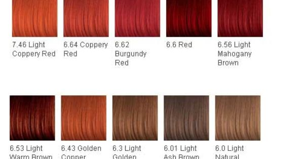 Hair Color Chart Might Dye My Hair The Burgundy Red