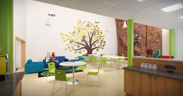 3d renderings elementary school interiors by cubic meter for Interior decorating school dallas