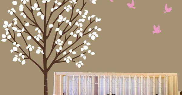 P pini re d calque de mur palmier fille vinyl decal for Autocollant mural personnalis
