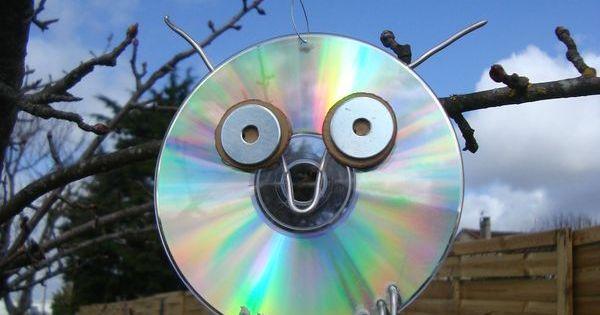 que faire avec un vieux cd r cup cd pinterest vieux cd vieux et recyclage. Black Bedroom Furniture Sets. Home Design Ideas