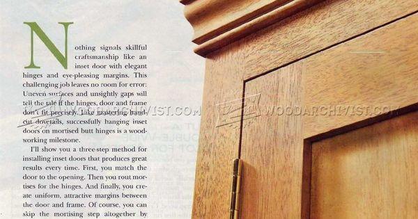 Installing Butt Hinges - Cabinet Door Construction | carpinteria ...