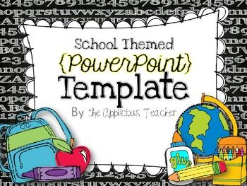 Back To School Powerpoint Template With Images School