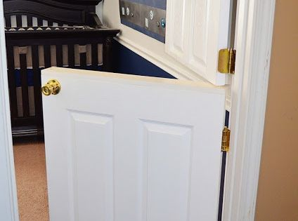 Kid's room: Dutch door. So much classier than a baby gate!