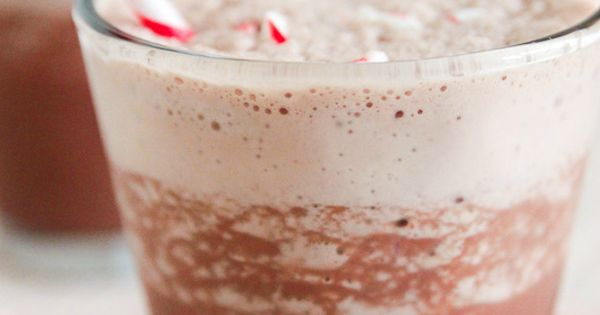 Skinny Frozen Hot Chocolate - A dreamy, icy blend of chocolatey ...