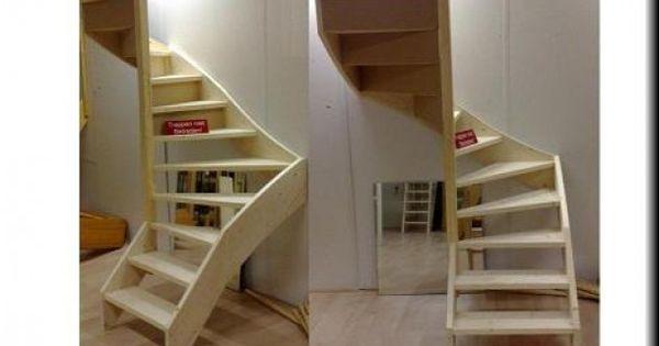 Trap volgens mij wel handig in een kleine ruimte deco idea pinterest - Deco woonkamer met trap ...