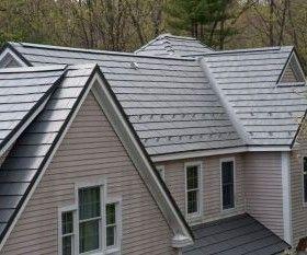 Oxford Slate Classic Metal Roofs Llc Stow Ma Metal Roof Metal Shingles Metal Shingle Roof