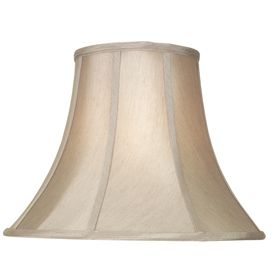Allen Roth 12 5 In X 17 In Silken Toast Fabric Bell Lamp Shade