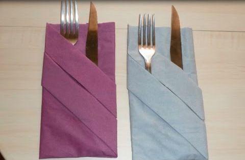 plier une serviette d corer une table porte couverts. Black Bedroom Furniture Sets. Home Design Ideas