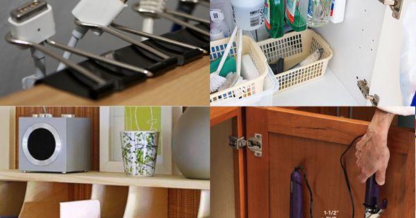 Binder clips, Sinks and Storage on Pinterest