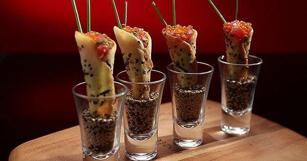 Tuna Tartare Cornet with and Avocado and Wasabi Mousse | Tuna, Mousse ...