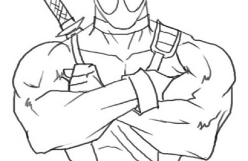online deadpool coloring page free to print