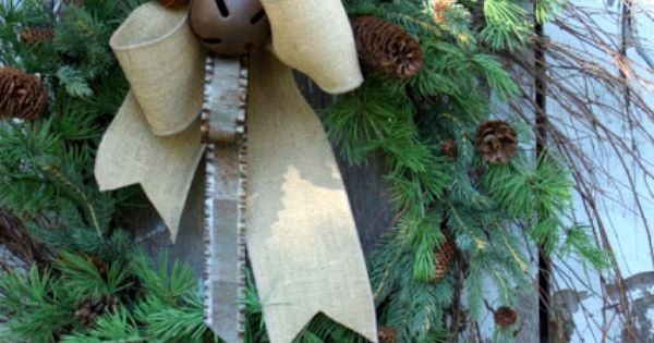 Article + Gallery ➤ http://CARLAASTON.com/designed/holiday-door-wreaths-you-wish-were-yours 18 Breathtaking Christmas Door Wreaths (Image Source: