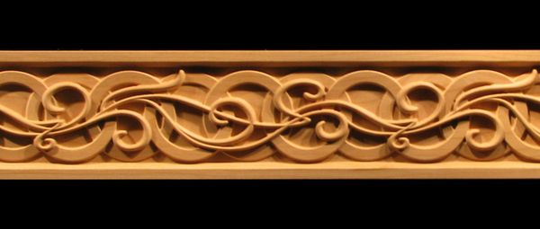 Decorative Wood Moulding Frieze Carved Celtic Nouveau Wood Molding Wood Carving Patterns Wood